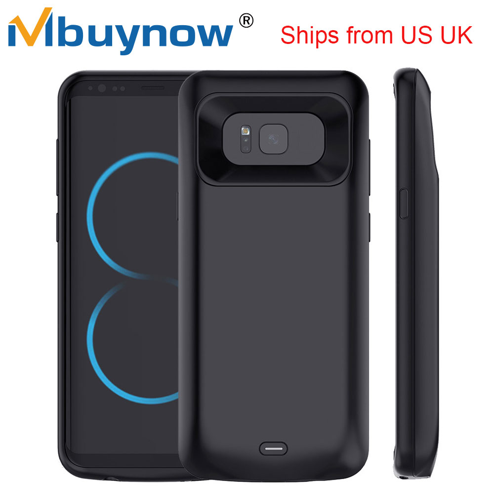 extended battery case for samsung galaxy s8 s8 plus rechargeable powerbank ultra slim backup. Black Bedroom Furniture Sets. Home Design Ideas