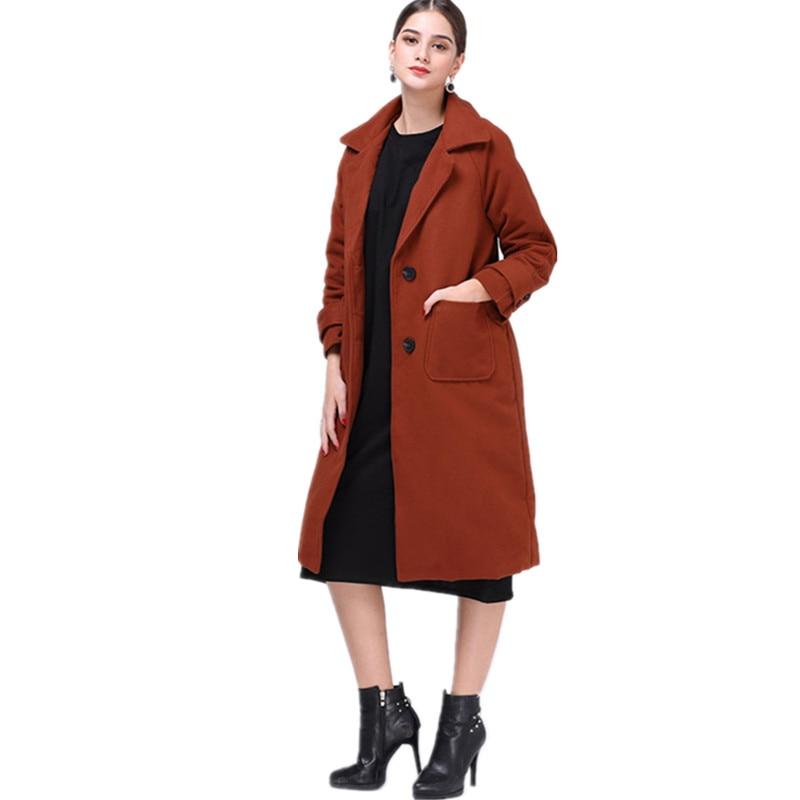 vanled 2017 high quality winter women coat manteau femme hiver reddish brown long style fashion