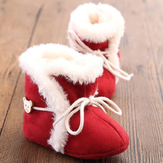 2016 Nova Moda Bebê Inverno Sapatos de Veludo Quente Fundo Macio Do Bebê sapatos Mocassins bebê lindo grils não-silp rendas-up botas bebê