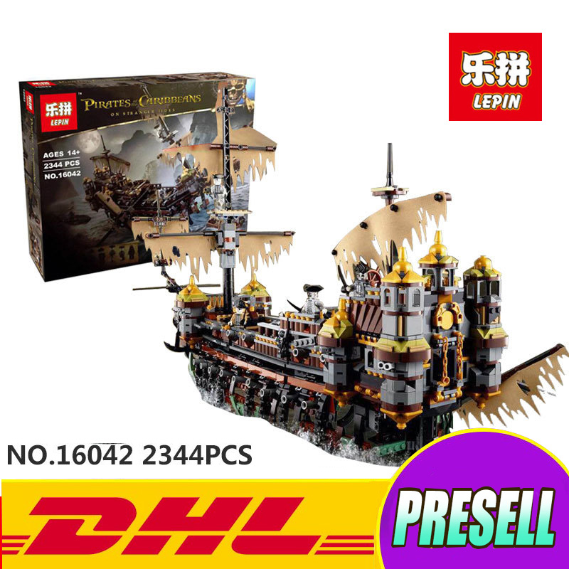 Lepin 16042 New Pirate Ship Series The Slient Mary Set Children Educational Building Blocks Bricks Toys Model funny Gifts 71042 lepin 22002 1518pcs the maersk cargo container ship set educational building blocks bricks model toys compatible legoed 10241