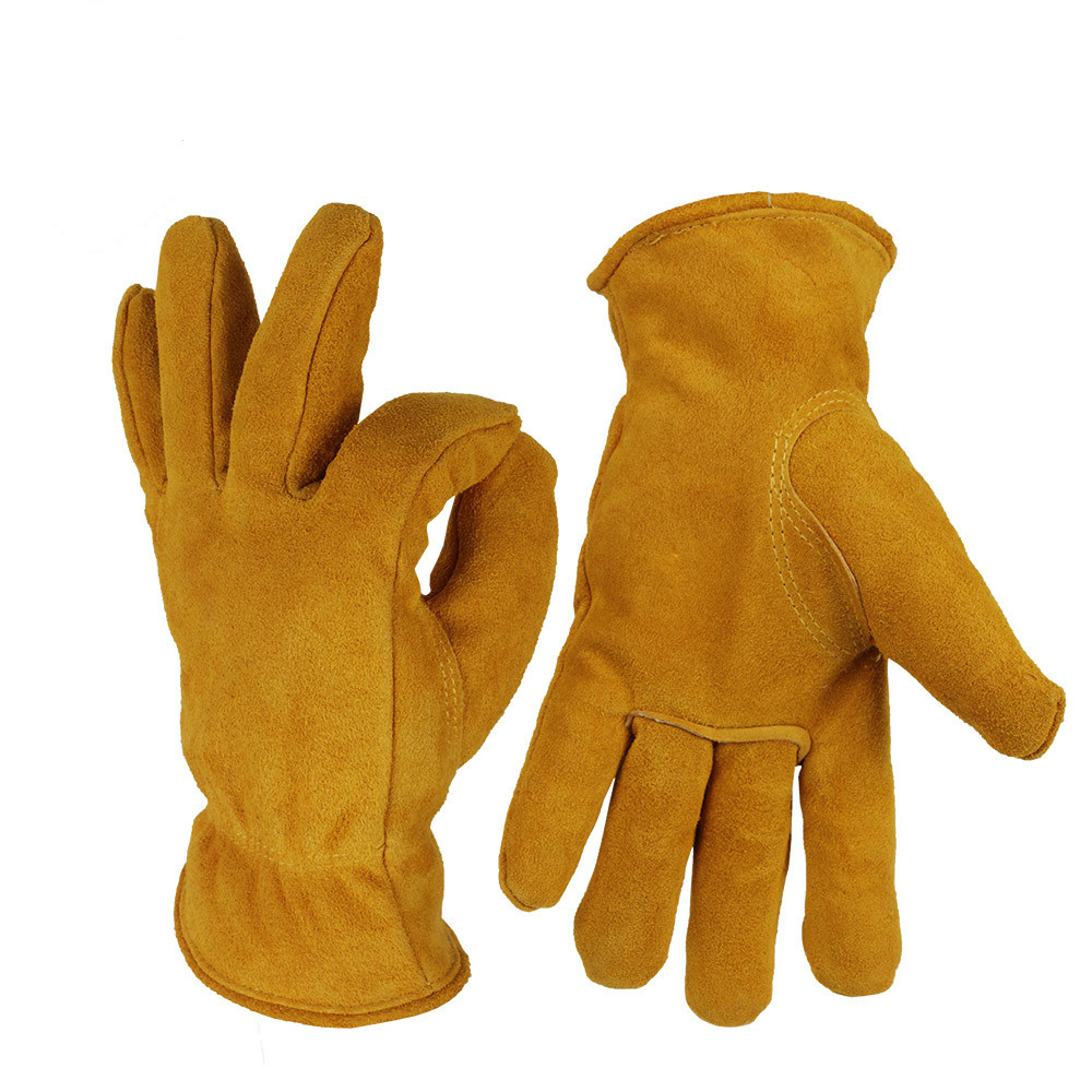 Cowhide cold proof gloves, outdoor labor insurance work, low temperature thickening, warm skiing.