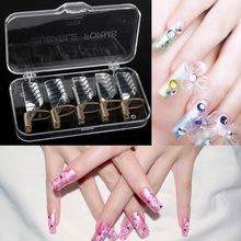 5pcs Nail Forms UV Gel Tool Acrylic French Tips Reusable Art YF2017