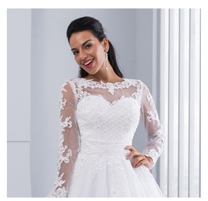 2 in 1 Wedding Dresses Bridal Gowns Ball Gown Detachable Train Lace Appliques Pearls Bridal Gowns