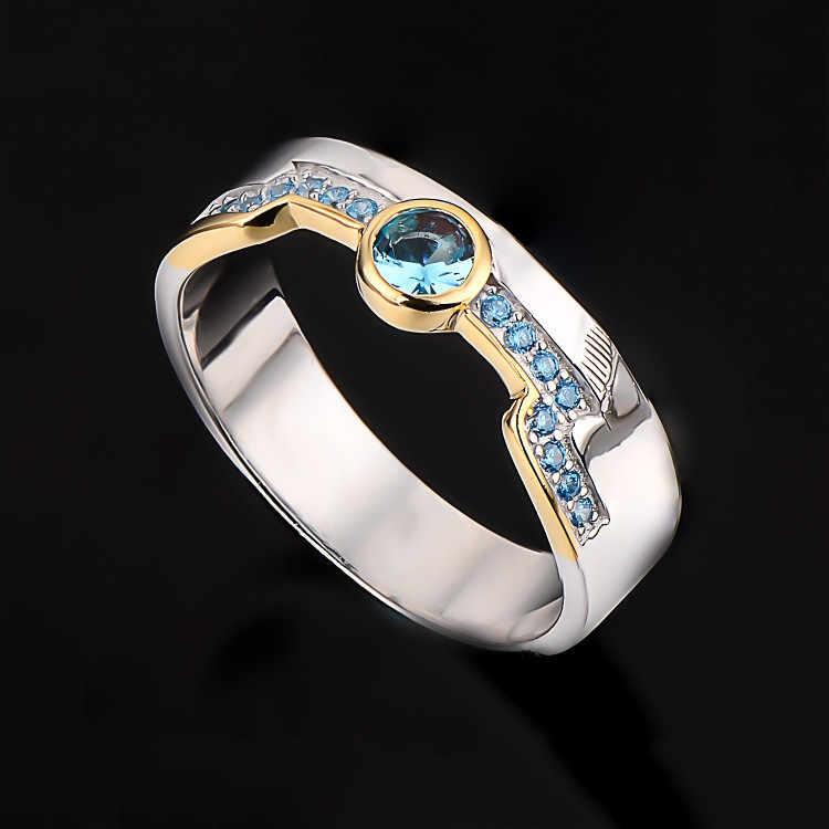 Герои LOL Master парные кольца Lux Ezreal 925 Серебряные кольца Блудный Проводник Игра Ювелирные изделия подарок друг другу подруге