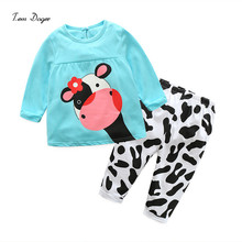 2016 baby cotton suits sets children's clothing set baby girl suits two-piece suits cotton clothes for children 0-2 ages