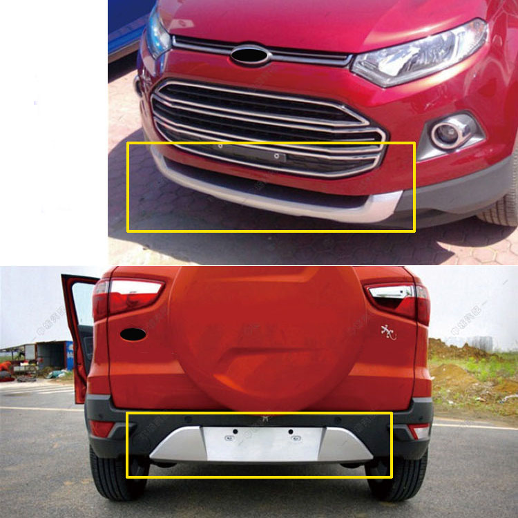 For Ford Ecosport 2013 2014 2015 2016 ABS Plastic Front Rear bumper Guard Protector Skid Plate Bumper Covers Car Styling car rear warning lamp for ford ecosport 2013 2015 external automobiles for anti collision rear end auto safe driving lights