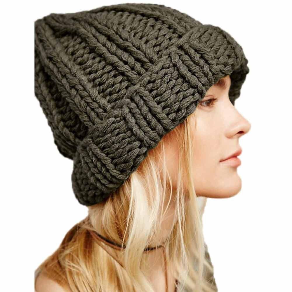 #4 DROPSHIP 2018 NEW HOT Fashion Women Keep Warm Manual Wool Knitted Earmuffs Hats Girls Caps Freeship