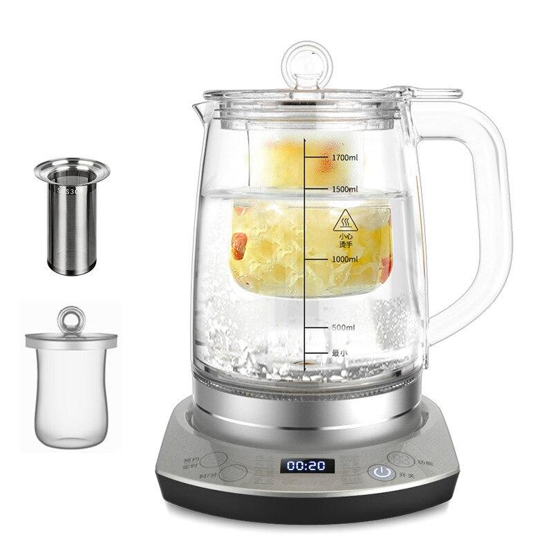 Электрический чайник Птичье гнездо тушеная здоровья чашки горшок дом полностью автоматический и толстого стекла приготовления кипения ча