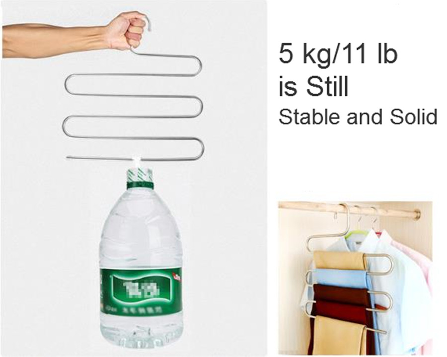 5 Layers Stainless Steel Clothes Hanger Space Saver Clothes Clips