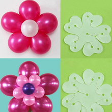 15pcs/lot Balloon Seal Clip That Combine 5 Balloons to Flower Shape Multi Sticks Accessory