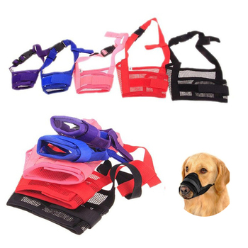 1PC Adjustable Mesh Breathable Small Large Dog Mouth Muzzle Anti Bark Bite Chew Dog Muzzles Training Products Pet Accessories
