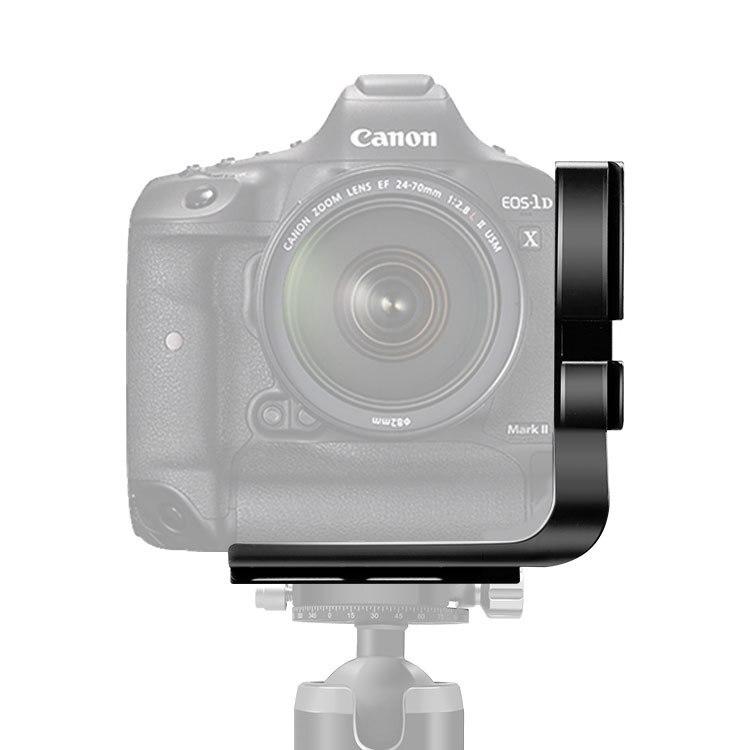 Trépied tête rapide L plaque pour canon 6D 5D3 5DSR 1DX 1DX MarkII avec poignée de batterie l-support QR plaque accessoires pour appareil photo