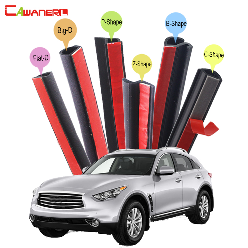 Cawanerl Car Styling Sealing Seal Strip Kit Rubber Weatherstrip Seal Edge Trim Noise Control For Infiniti QX QX60 QX70 QX80 авто химия