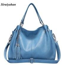 Siruiyahan Genuine Leather Bag Female Bags Handbags Women Famous Brands Shoulder Bags Women Bag Female Bolsa Feminina
