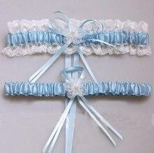 1dd727ec3 Gtglad Sexy Lace Bowknot Garter Nupcial Set Acessórios Do Casamento de  Noiva Ligas de Perna Mulheres Cinto Branco Rosa Azul