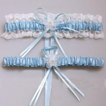 gtglad Sexy Lace Bowknot Bridal Garter Set Bride Wedding Accessories Leg Garters Belt Women White Pink Blue Garters