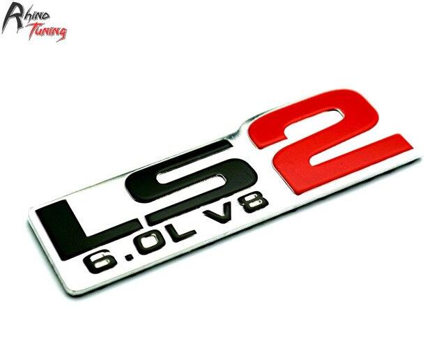 Rhino tuning car ls2 6 0l v8 rear emblem for ls2 6 0l v8 auto styling