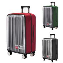 PVC przezroczysta osłona przeciwkurzowa do bagażu elastyczna wodoodporna walizka torby Rain Travel Suitcase akcesoria produkt tanie tanio Akcesoria podróżne z bocian PVC + poliester Pokrowiec na bagaż 0 cali w 0486 do 0 5 kg Stałe Kobiety mężczyźni Travel pyłoszczelna Osłona przeciwdeszczowa