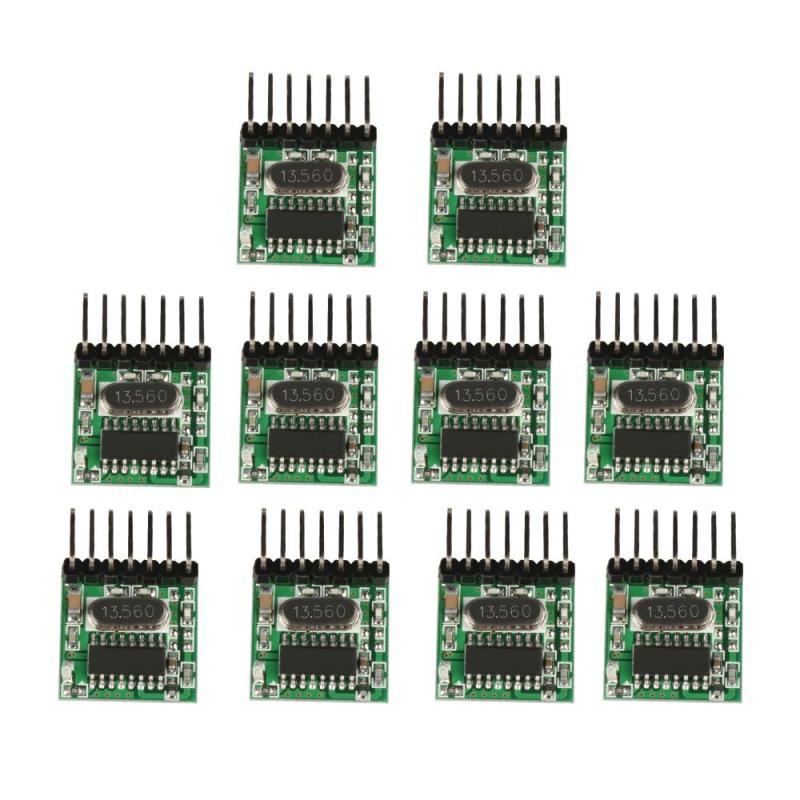 10pcs 433 MHz Superheterodyne RF Transmitter 1527 Encoding Module 2262 Learning Code 4 CH Wireless 433Mhz Remote Control DIY Kit high frequency superheterodyne wireless receiving module green