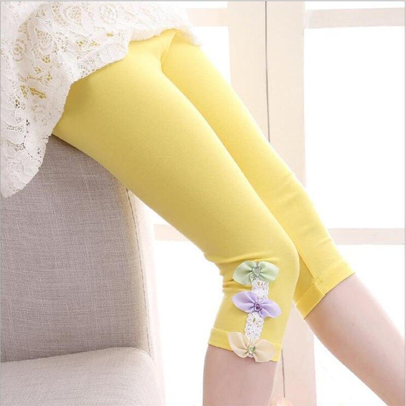 Ywstt 2018 nowe dzieci dziewczyny ołówek spodnie bawełniane - Ubrania dziecięce - Zdjęcie 3