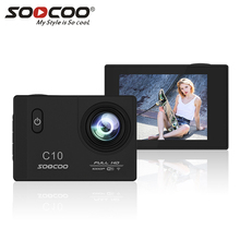 Full-HD 1080P Action Camera NOVATEK96655 with Wifi 12MP Sports cam 170 Degree Wide Lens Waterproof SOOCOO C10