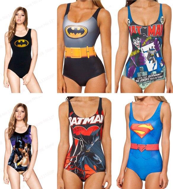 4b9f87b2455 BATMAN SWIMSUIT Sexy Swimwear S Bodysuit I AM THE BATMAN The Joker One  Pieces Bikini The Dark Knight WOMAN Beachwear Print