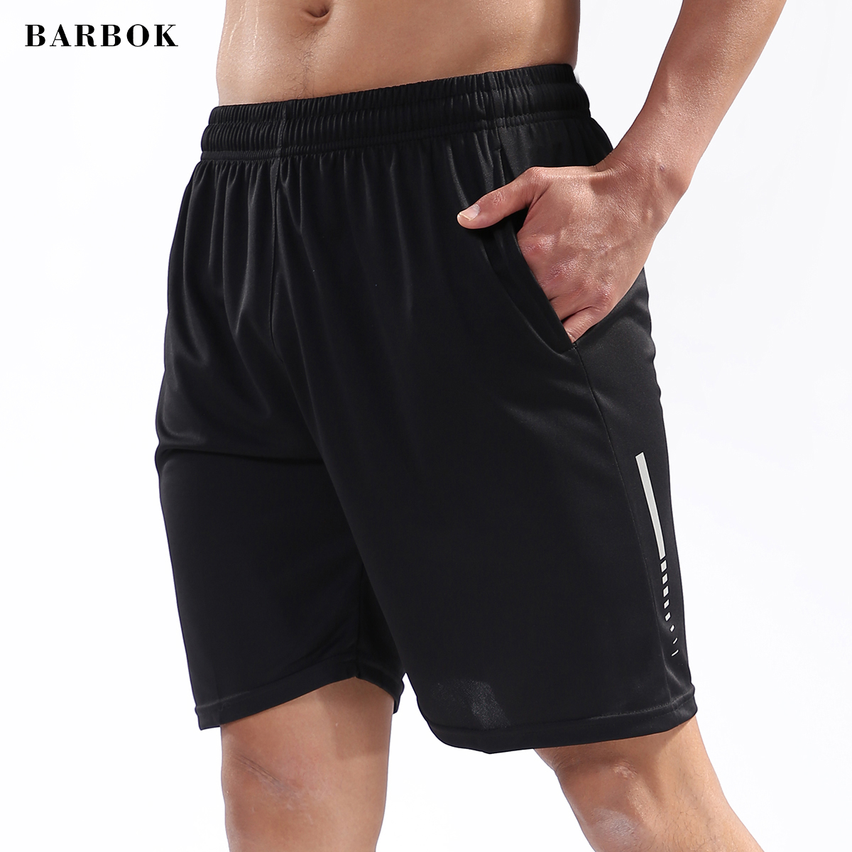 BARBOK Sports Shorts Elastic Tight Gym Exercise Hip Hop Workout Short Pants Male Female Quick Drying Fitness Shorts