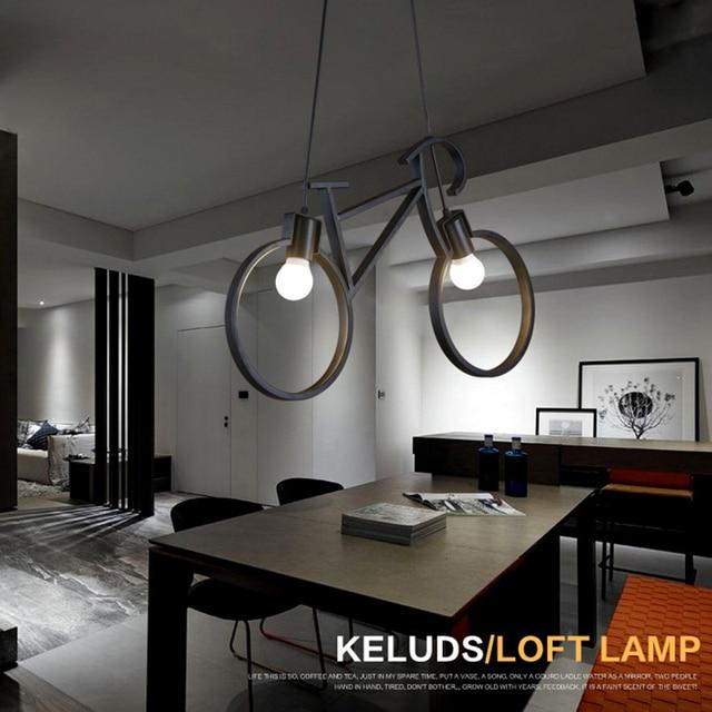 Iron Retro Vintage Fiets Hanglamp E27 Industriële Lamp Edison Lamp ...