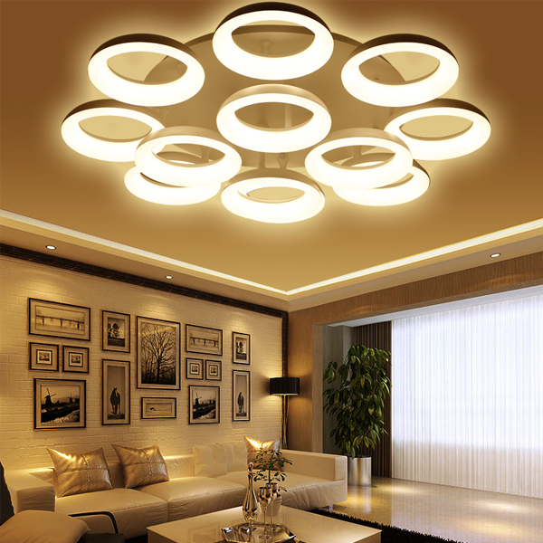 LED Modern Ceiling Lights Ceiling Lamp Remote Control Dimmable Acrylic Decorative For Living Room Bedroom 9042 f9 modern touch led standing floor lamp reading for living room bedroom with remote control 12 levels dimmable 3000 6000k black