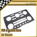 Para Nissan R35 GTR 08-15 Carbon Fiber Center Control Panel Surround Ajuste de La Cubierta LHD