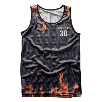 New 2018 Tank Top breathable summer fitness sleeveless leisure Vest T-shirt, train, 3D printing No.30 Curry men's vest 1915