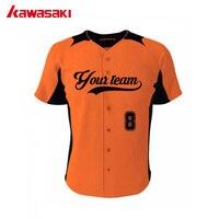 2017 Kawasaki Marka Sublime Özel Beyzbol Forması Uçları Için 100% Polyester Yüksek Kalite Spor Voleybol Takım Aşınma Erkek/Kadın