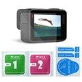 Grabar vídeos de alta definición película protectora para gopro hero 5 negro cámara go pro accesorios lcd exhibición de la pantalla y protector de lente