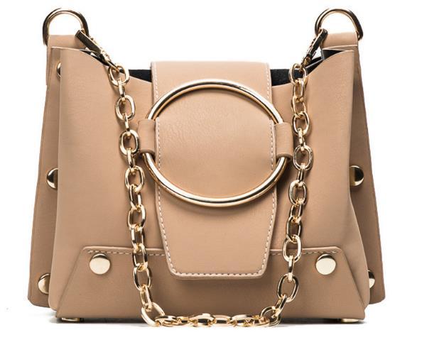 2017 New Ladies Handbag Fashion Casual Bucket Bag Women Chain Magnetic Buckle Crossbody Bag Female Mini Shoulder Bag <font><b>S18</b></font>