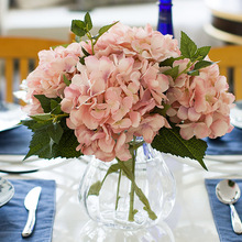 Klonca Luxury Silk Flower 46cm Artificial Fake Hydrangea Wall Home Decoration Wedding Party