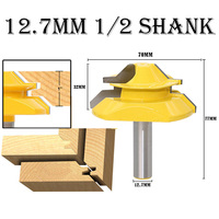 45 Degree Wood Lock Miter Milling Cutter Tool 12.7mm Tenon Wood Cutter1/2 Shank Router Bits Woodworking Tool big size
