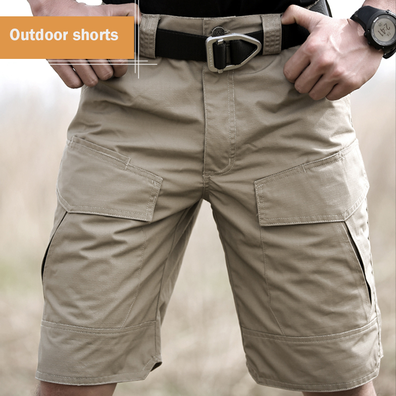 Summer Military Waterproof Shorts Tactical Cargo Men Teflon Camouflage Army Military Short Male Pockets Rip stop Casual Shorts