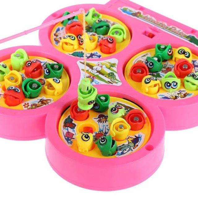 Fishing Toy Electric Rotating Magnetic Magnet Singing Fish Fishing Kid Children Educational Toy Game