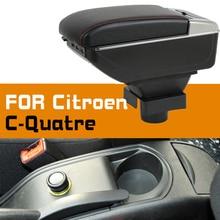 Leather Car Armrest For Citroen C-quatre Arm Rest Rotatable saga