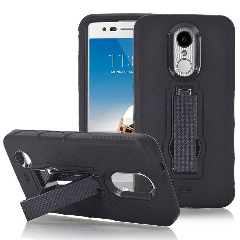 Cover For LG K20 V / LG Harmony Bling Hard Soft Rubber Impact Armor Case Back Hybrid drop shipping 0804