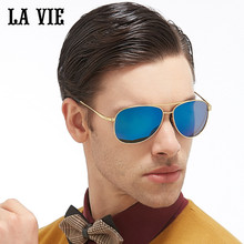 LA VIE Polarized Classic Aviator Design Fashion Men Sunglasses Coating Lens Male Sun Glasses gift Oculos De Sol Gafas LVA301-1