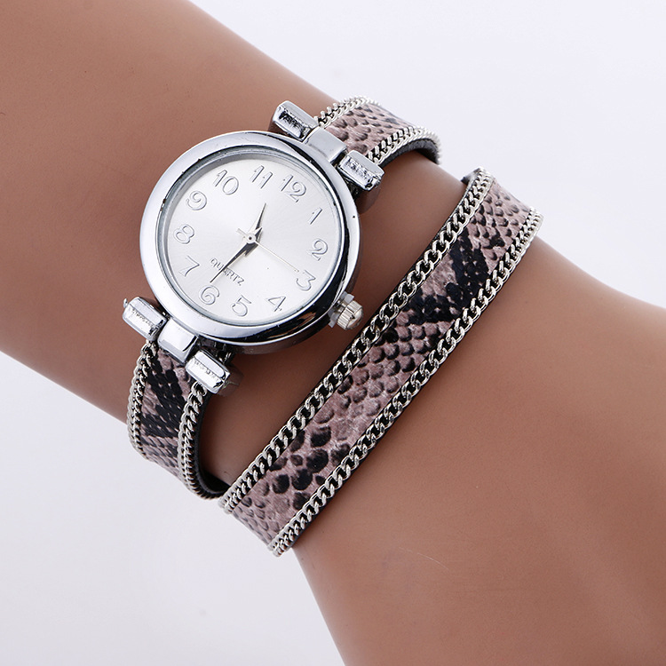 Fashion Casual Women s Quartz Wristwatch Serpentine Leather Bracelet Watch Lady s Dress Watch Relogio Feminino