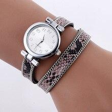 Moda Casual Reloj de pulsera de Cuarzo de Las Mujeres de Cuero Serpentina Pulsera Reloj de Señora Vestido Reloj Relogio Feminino Reloj Mujer Regalos