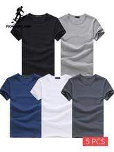 Pioneer Camp 5 pièces t shirt Simple Design créatif ligne solide 100% coton t shirts hommes nouveauté à manches courtes hommes t shirt 2020