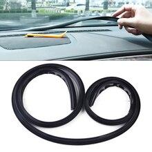 DWCX Автомобильный Черный приборной панели лобовое стекло уплотнительная полоса отделка Анти-пыль силиконовый 1,6 м Т-образный звукоизолированный пылезащитный 160x1,8x1,4 см