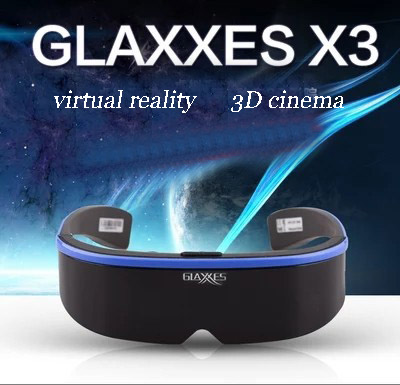 Vr all-in-one 3 d virtual reality helm yang terpasang di gamehead - Audio dan video portabel - Foto 1