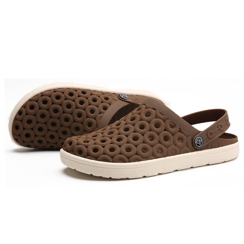 MIUBU 2019 Men Sandals Summer Beach Shoes Breathable EVA Casual Fashion Slip on Summer Hollow Jelly men 39 s Flats Water Sandalias in Men 39 s Sandals from Shoes