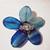 Broche de flor, Natural Blue Cats Eye Pedra Broche, Feito À Mão Personalizado Broche de Presente da Festa de Casamento da Forma da Senhora.