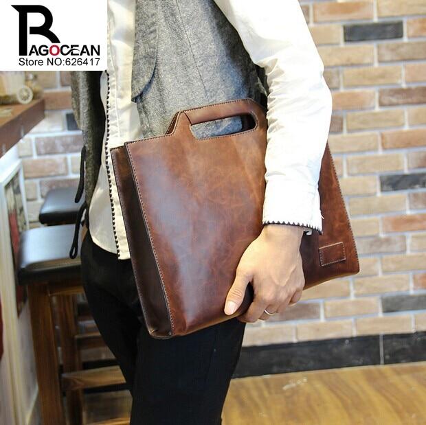Nuevo estilo crazy horse pu leather men business maletín bolsa - Bolsos - foto 2