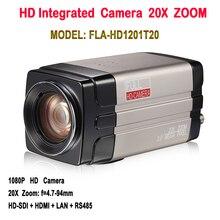 Câmera sdi ip box de 2.0 megapixels, 1080p 60fps onvif zoom de 20x com saída hdmi hdsdi lan para sistema de conferência/treinamento remoto de mídia